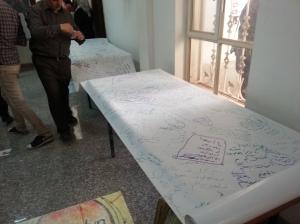 أطول رسالة سلام في العالم اعدها فريق موجة من جامعة الكوفة الى جامعة الانبار